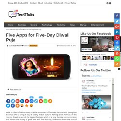 Five Apps for Five-Day Diwali Puja