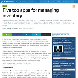 Five top apps for managing inventory