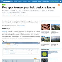 Five apps to meet your help desk challenges