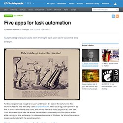 Five apps for task automation