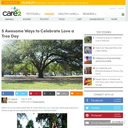 Five Awesome Ways To Celebrate Love A Tree Day