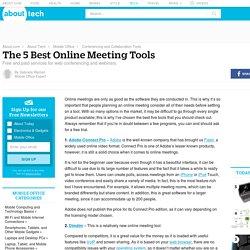Five Best Online Meeting Tools