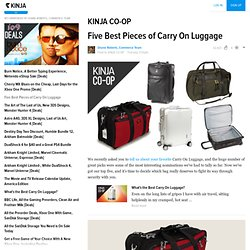 Five Best Pieces of Carry On Luggage