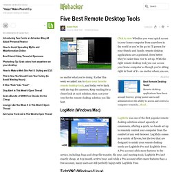 Five Best Remote Desktop Tools