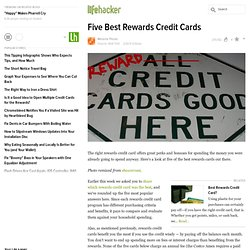 Five Best Rewards Credit Cards