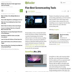 Five Best Screencasting Tools