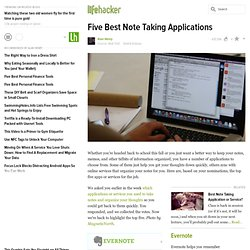 Five Best Note Taking Applications stories - Lifehacker