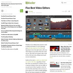 Five Best Video Editors