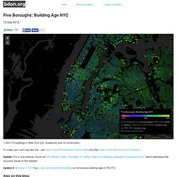 Five Boroughs: Building Age NYC