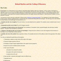 Five Codes of Roland Barthes
