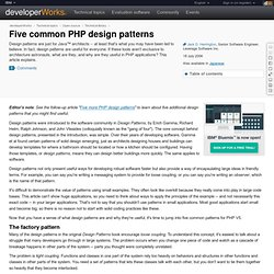 Five common PHP design patterns
