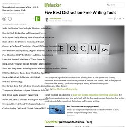 Five Best Distraction-Free Writing Tools