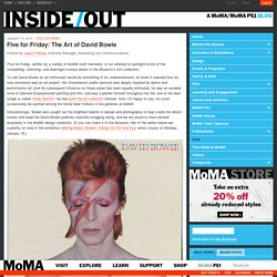 Five for Friday: The Art of David Bowie