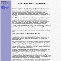 Five Geek Social Fallacies