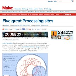 Five great Processing sites