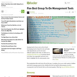 Five Best Group To-Do Management Tools stories - Lifehacker