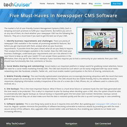 Five Must-Haves in Newspaper CMS Software