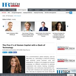 The Five C's of Human Capital with a Dash of Technology