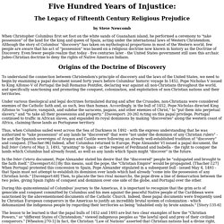 Five Hundred Years of Injustice