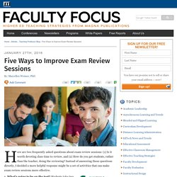 Five Ways to Improve Exam Review Sessions
