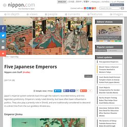 Five Japanese Emperors