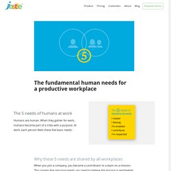 Five needs of humans at work