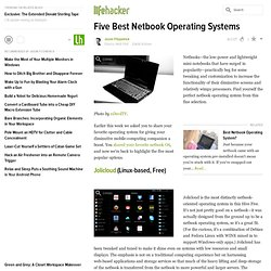 Five Best Netbook Operating Systems