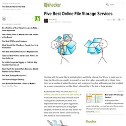 Five Best Online File Storage Services