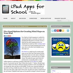 Five Good Options for Creating Mind Maps on Your iPad