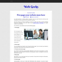 Five pages your website must-have