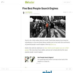 Hive Five: Five Best People-Search Engines