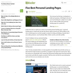 Five Best Personal Landing Pages