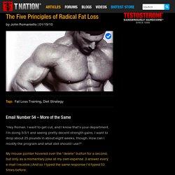 The Five Principles of Radical Fat Loss