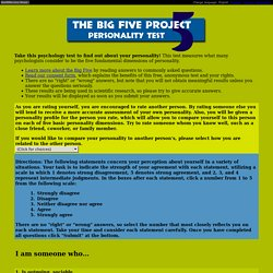 The Big Five Project - Personality Test