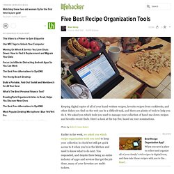Five Best Recipe Organization Tools