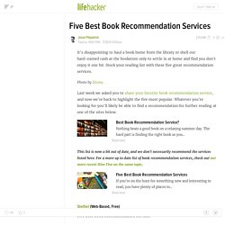 Five Best Book Recommendation Services