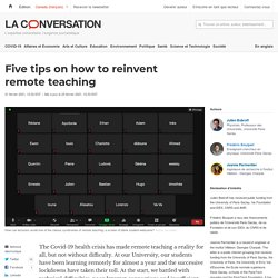 Five tips on how to reinvent remote teaching