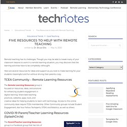Five Resources to Help with Remote Teaching