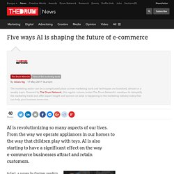 Five ways AI is shaping the future of e-commerce