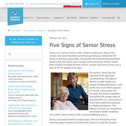 Five Signs of Senior Stress