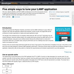 Five simple ways to tune your LAMP application