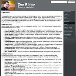 Five Skills - Zen Rhino