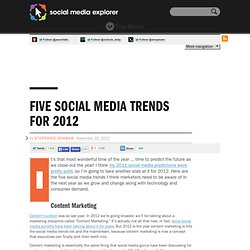Five Social Media Trends for 2012