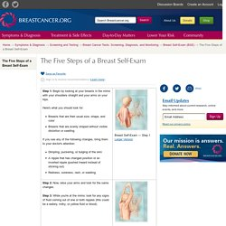 The Five Steps of a Breast Self-Exam