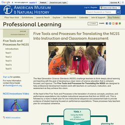 Five Tools and Processes for NGSS