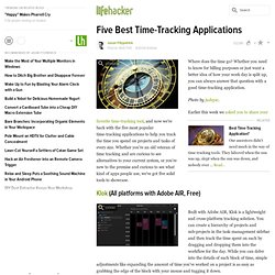Five Best Time-Tracking Applications - Time management - Lifehac