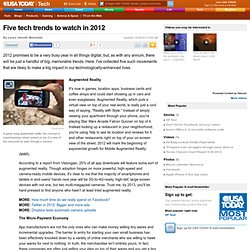 Five tech trends to watch in 2012