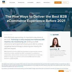 The Five Ways to Deliver the Best B2B eCommerce