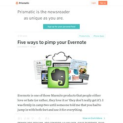 Five ways to pimp your Evernote