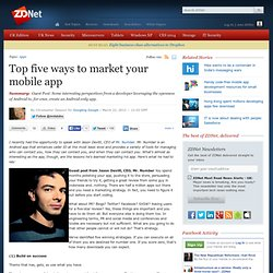Top five ways to market your mobile app